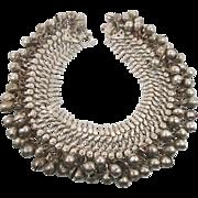 Anklet Bells, Afghan Bracelet, Vintage Kuchi, Belly Dance, Bollywood, Gypsy, Festival Jewelry, Big Statement, Boho Bohemian, Silver Metal