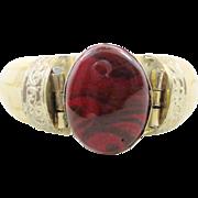 India Bracelet, Carnelian Art Glass, Bone Bangle, Vintage Bracelet, Ethnic Tribal, Repousse Metal, Boho Statement, Bohemian, Large Big