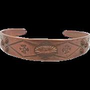 Copper Cuff Bracelet - Vintage Native American - InVintageHeaven