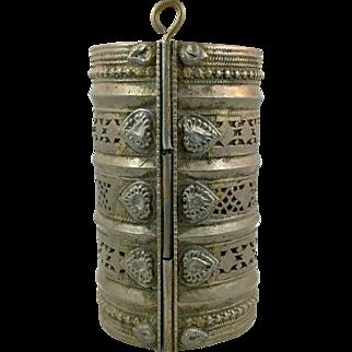 Afghan Bracelet, Vintage Bracelet, Wide Kuchi Bracelet, Silver Ethnic, Turkoman Gypsy, Tribal Gypsy, Mixed Metal, Belly Dance, Statement #2