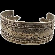Gypsy Cuff, Kuchi Bracelet, Silver Metal, Afghan, Vintage Ethnic, Nomad Turkoman, Unisex Mens Mans, Ethnic Tribal, Spiked, Boho Bohemian #1
