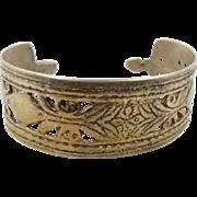 Gypsy Cuff, Kuchi Bracelet, Silver Metal, Afghan, Vintage Ethnic, Nomad Turkoman, Unisex Mens Mans, Ethnic Tribal, Spiked, Boho Bohemian #2