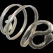 Snake Bracelet, Upper Arm, Silver, Vintage Jewelry, Egyptian, Gothic Rocker, Boho Statement, Festival Jewelry, Bohemian, Ethnic, Big