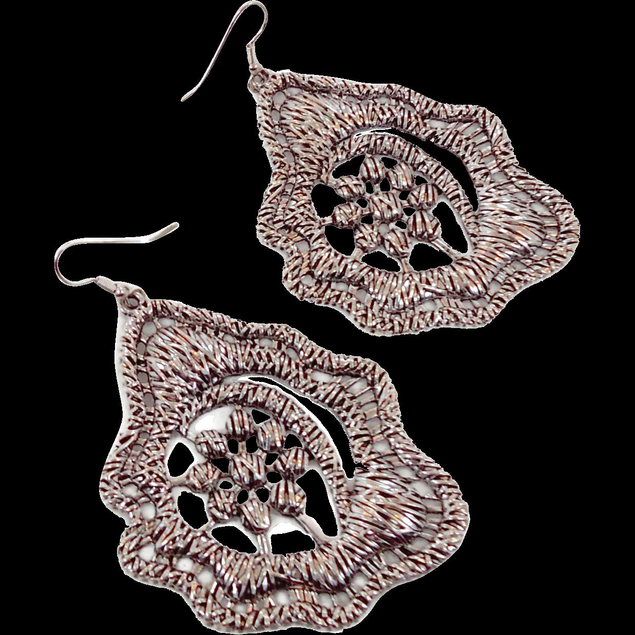 Silver Vintage Earrings 64