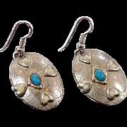 Afghan Earring, Turquoise Vintage, Silver Earrings, Boho Jewelry, Big Earrings, Ethnic Tribal, Statement, Boho Hippie, Gypsy Earrings