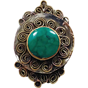 Afghan Ring, Kuchi Ring, Green RIng, Bedouin Ring, Unisex RIng, Mens Mans, Ethnic Jewelry, Bedouin, Boho, Size 12.5, Hippie, InVintageHeaven