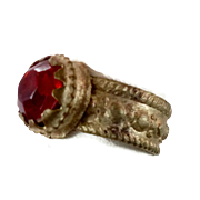 Vintage Ring, Red Kuchi Ring, Afghan Ethnic, Gypsy Jewelry, Statement Ring, Size 7, Boho Bohemian, Gypsy Antique, Ruby Red, Hippie