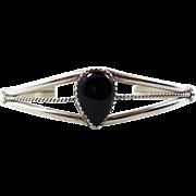 Black Onyx Cuff, Vintage Bracelet, Sterling Silver, Native American, Boho Statement, Bohemian, Black Stone, Stacking, Ethnic, Boho Bohemian