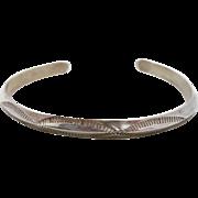 Navajo Cuff, Sterling Silver, Native American, Vintage Bracelet, Lasso Pattern, Southwestern, Country Western, Boho Bohemian, Unisex, #1