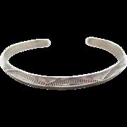 Navajo Cuff, Sterling Silver, Native American, Vintage Bracelet, Lasso Pattern, Southwestern, Country Western, Boho Bohemian, Unisex , #2