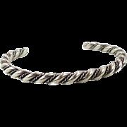 Sterling Silver, Cuff Bracelet, Vintage Bracelet, Navajo, Native American, Twisted Pattern, Boho Jewelry, Bohemian, Stacking Bracelet