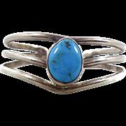Turquoise Bracelet, Sterling Silver, Cuff Bracelet, Vintage Bracelet, Signed, Big Statement, Contemporary, Southwestern, Boho Bohemian