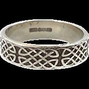 Celtic Knot Ring, Sterling Silver, Celtic Band, Vintage Ring, Irish Jewelry, 925, Size 7, Irish Wedding Band, Unisex, Mans Mens