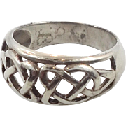 Celtic Knot Ring, Sterling Silver, Celtic Band, Vintage Ring, Irish Jewelry, 925, Size 9, Irish Wedding Band, Unisex, Mans Mens