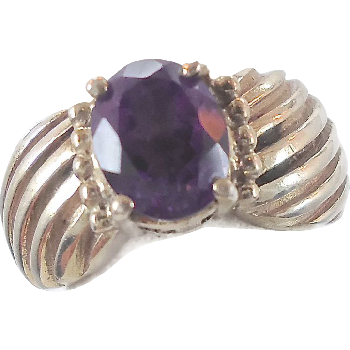 amethyst ring vintage - photo #31
