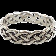 Celtic Knot Ring, Sterling Silver, Celtic Band, Vintage Ring, Irish Jewelry, 925, Size 8, Irish Wedding Band, Unisex, Mens, Vintage Jewelry