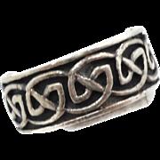 Celtic Knot Ring, Sterling Silver, Celtic Band, Vintage Ring, Irish Jewelry, 925, Size 8 1/2, Irish Wedding Band, Unisex, Mans Mens