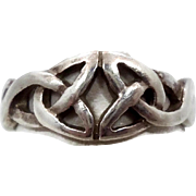 Celtic Knot Ring, Sterling Silver, Celtic Band, Vintage Ring, Irish Jewelry, 925, Size 5 1/2, Irish Wedding Band
