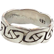 Celtic Knot Ring, Sterling Silver, Celtic Band, Vintage Ring, Irish Jewelry, 925, Size , Irish Wedding Band, Unisex, Mans Mens