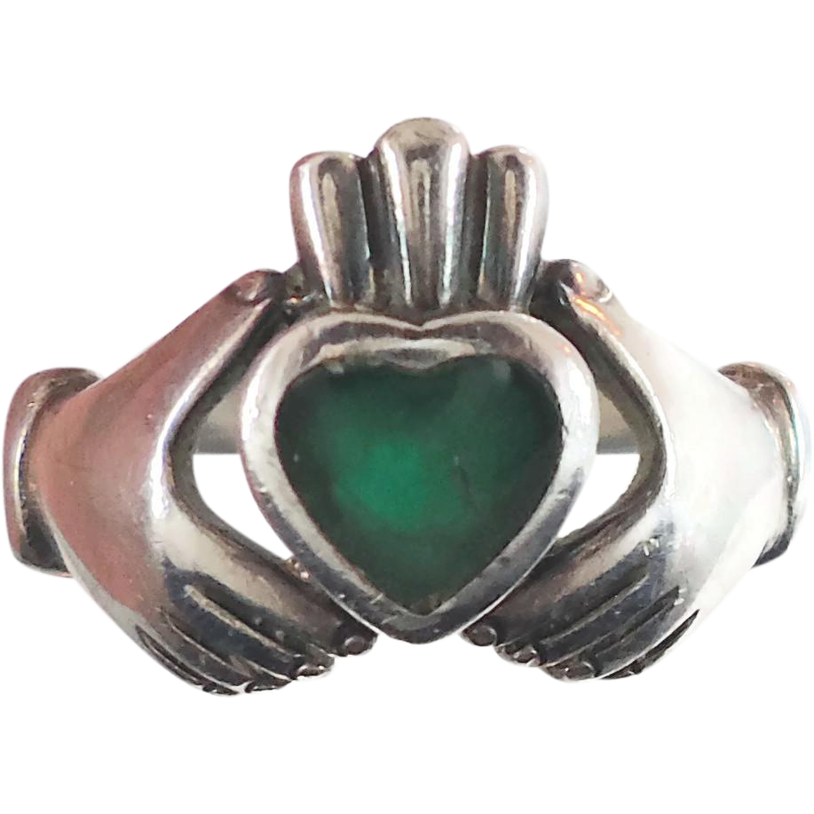 Claddagh Ring Sterling Silver Vintage Ring Irish Jewelry Celtic From Invintageheaven On Ruby