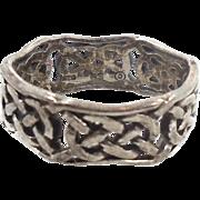Celtic Knot Ring, Sterling Silver, Celtic Band, Vintage Ring, Irish Jewelry, 925, Size 7 1/2, Irish Wedding Band, Unisex, Mans Mens