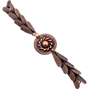 Copper Bracelet, Mid Century, 50s, Vintage Bracelet, Linked Bracelet, Retro, Textured, Patina, 1950s Fish Scales, Modern, Contemporary, Sun