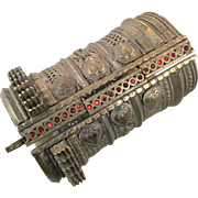 Afghan Bracelet, Wide Kuchi Bracelet, Vintage Bracelet, Silver Ethnic, Turkoman Gypsy, Tribal Gypsy, Mixed Metal, Belly Dance, Statement, #1