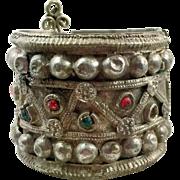 Gypsy Bracelet, Vintage Bracelet, Turkomen Tribal, Hinged, Jeweled, Wide Bracelet, Old Ethnic, Kuchi Boho, Bohemian, Statement, Nomad #2
