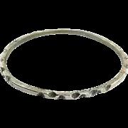 Sterling Silver Bangle, Mexico, Vintage Bracelet, Sterling Bracelet, Heavy, Mexico Bangle, Hand Tooled, Chiseled, Stacking, Silver Bangle