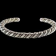 Sterling Silver, Cuff Bracelet, Vintage Bracelet, Navajo, Heavy, Native American, Twisted Pattern, Boho Jewelry, Stacking, Silver Cuff