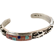 Turquoise Cuff, Gecko, Lizard, Inlaid Stone, Sterling Silver, Tufta Cast, Lapis, Spiny Oyster, Cuff Bracelet, Native American, Shell