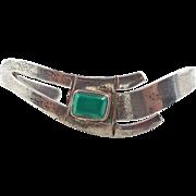 Green Onyx, Bracelet, Sterling Silver, Cuff Bracelet, Vintage Bracelet, Taxco Mexico, Green, Statement, Boho, Stacking, Modern, Bohemian