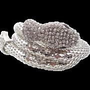 Snake Bracelet, Vintage Bracelet, Silver Rhinestone, Egyptian Bracelet, Bohemian Gypsy, Boho Statement, Mesh, Belly Dance, Unique, Gothic