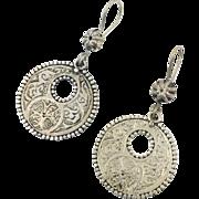 Silver Earring, Afghan Jewelry, Vintage Earrings, Kuchi, Pierced, Dangles, Gypsy, Big, Boho, Festival Jewelry, Ethnic, Tribal, Large