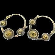 Big Hoop Earrings, Spikes, Gypsy Jewelry, Brass Earrings, Afghan Jewelry, Boho, Bohemian, Statement, Ethnic Tribal, Festival, Large, Huge