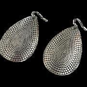Big Earrings, Massive, Oversized, Silver, Vintage Earrings, Boho Earrings, Ethnic, Tribal, Festival Jewelry, Large, Pierced, Dangle