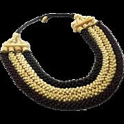 Bone Necklace, Boho Statement, Beaded Necklace, Vintage Multi-Strand, Oversized, Bohemian, Large, African, Ethnic Tribal, Festival Jewelry