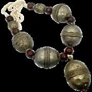 Kuchi Necklace, Huge, Boho Statement, Afghan Necklace, Vintage Necklace, Massive, Oversized Big, Gypsy, Bohemian, Large Beads, Ethnic Tribal