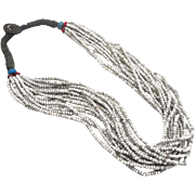 Afghan Beaded, Kuchi, Old Necklace, Glass Torsade, Vintage Necklace, 16 Strands, Handmade Beads, Boho Tribal Ethnic, Bohemian, Statement