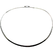 Sterling Collar, Necklace, Sterling Silver, Vintage Necklace, 3.17 mm, Minimalist, Modern, Choker, Contemporary, Mod, Retro