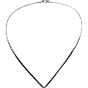 Sterling Collar, Necklace, Sterling Silver, Vintage Necklace, V Shaped, 2.3 mm, Minimalist, Modern, Choker, Contemporary, Mod, Retro