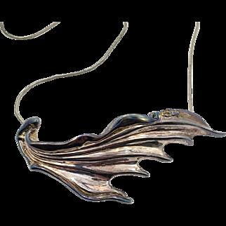 Electroformed Necklace, Sterling Silver, Brutalist, Vintage Necklace, Pendant, Pin Brooch, Organic, Unique, Artisan, Contemporary, Unusual