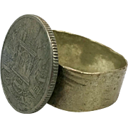 Coin Ring, Vintage Ring, Gypsy Ring, Kuchi Ring, Size 10, Mens, Unisex, Afghan Ethnic, Statement, Odd Unique, Nomad, Turkmen Bedouin, Boho
