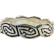 Celtic Knot Ring, Sterling Silver, Size 14, Celtic Band, Vintage Ring, Irish Jewelry, 925, Irish Wedding Band, Unisex, Mens