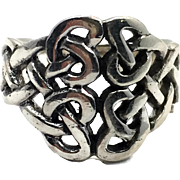 Celtic Knot Ring, Sterling Silver, Celtic Band, Vintage Ring, Size 6, Irish Jewelry, 925, Irish Band