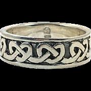 Celtic Knot Ring, Sterling Silver, Size 13, Celtic Band, Vintage Ring, Irish Jewelry, 925, Irish Wedding Band, Thumb Ring, Unisex, Mens
