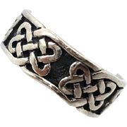 Celtic Knot Ring, Sterling Silver, Celtic Band, Vintage Ring, Irish Jewelry, 925, Size 6, Irish Wedding Band, Unisex, Mans Mens