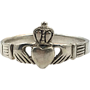 Claddagh Ring, Sterling Silver, Vintage Ring, Peter Stone, Size 7, Irish Jewelry, Celtic Ring, 925, Irish Wedding, Heart, Crown, Hands