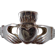Claddagh Ring, Sterling Silver, Vintage Ring, Irish Jewelry, Celtic Ring, 925, Size 6 1/2, Irish Wedding, Heart, Crown, Hands