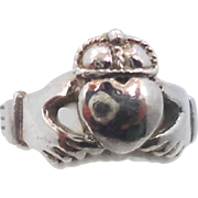 Claddagh Ring, Sterling Silver, Celtic Jewelry, Vintage Ring, Irish Jewelry, 925, Size 5 1/2, Irish Wedding, Heart, Crown, Hands